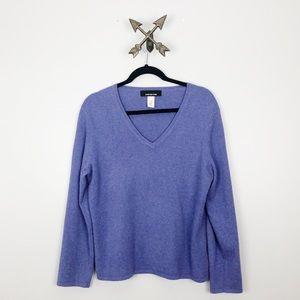 Jones New York 100% Cashmere Lavender Sweater
